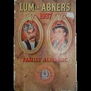 Vintage 1937 Lum & Abner's Family Almanac Horlick's Malted Milk Corp.