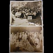 Vintage Original Black & White Photographs - Fred Meyer Picnic & Masquerade Ball - Oct. 22, ..