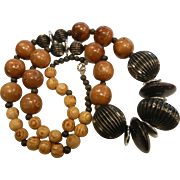 Large Wooden Bead Necklace