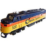 N-Scale Model Train Engine Chessie System C&O 7071