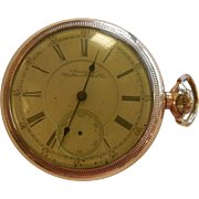 Vintage 1892 Vanguard Waltham Pocket Watch 21 Jewels - Size 18