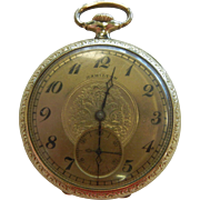 Vintage Hamilton Gold-Tone 17 Jewels Pocket Watch - Size: 16