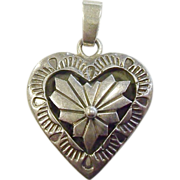Precious Southwestern-Style Sterling Silver Heart Pendant by SG