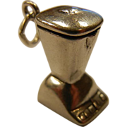 Blender Kitchen Accessory Charm Sterling Silver 925