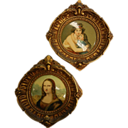 Vintage Set of Two Gilded Framed Paintings