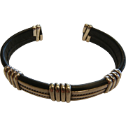 Fine Leather Wrapped Sterling Silver Cuff Bracelet