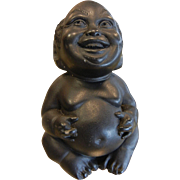Unique Hand Carved Hawaiian Lava Good Luck Charm