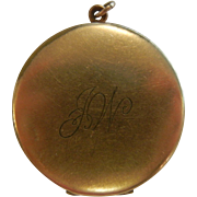 Vintage Gold-Filled Locket Pendent w/ Old Photos - Initialed JW