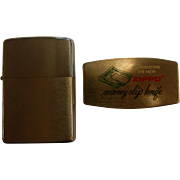 Original ZIPPO Lighter & ZIPPO Money-Clip Knife