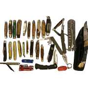 SOLD Very Large Collection of 29 Pocket Knives
