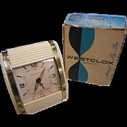 SOLD Vintage Westclox Travel Clock w/ Original Box