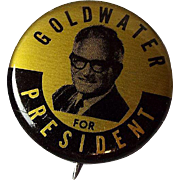 Vintage Barry Goldwater for President Political Button
