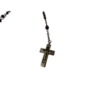 Vintage Rosary with Inlaid Crucifix