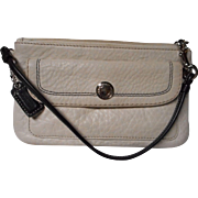 All Leather Wristlet by Coach