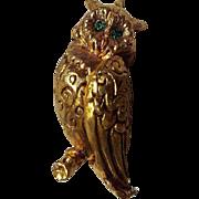 Vintage Owl Solid Perfume Pendant
