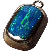 Sterling Mexico Opal Doublet Pendant