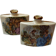 Set of Porcelain Perfume Bottles, Marked