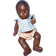 Composition Black Baby Doll, 7 inches