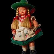 Vintage Hard Plastic German Doll House Doll