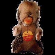 Vintage Steiff Beaver, tagged, 40's-50's