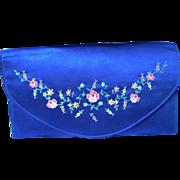 Navy Petit Point clutch purse
