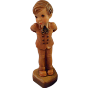 Anri  Italian, hand carved and painted Boy