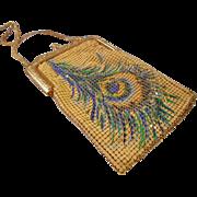 SOLD Vintage Art Nouveau mesh purse