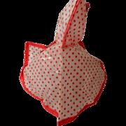 SALE Vinyl Red Polka Dot Rain-cape for Vintage 8 inch Dolls