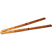 M.W.& Co. Hinged Wooden Yardstick T Square