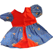 """Vintage Cotton Doll Dress for 14-16"""" Hard Plastic Doll or compo"""