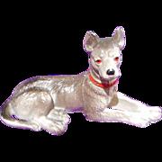 "Vintage  3.9"" Cast Metal Shepard, Terrier Dog Figure"