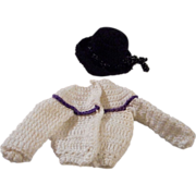 Vintage Hand Crocheted Doll Outfit