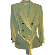 Gorgeous,Vintage Christian Dior Suit,  Creamy Pale Yellow