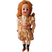 7 Inch  Bisque Head Doll, Original Outfit, Marked 18/0