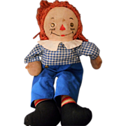 SALE Wonderful Vintage 15 Inch 1940's Raggedy Andy by Georgene
