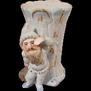 Vintage German Bisque Figural Vase, 4 Inches Tall