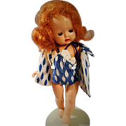 "Unusual Red Haired, 8 Inch Strung"" Muffie"" by Story Book Dolls in Rare Outfit"