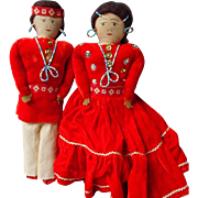 SALE Navajo Indian Dolls with Hand Beading