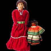 Vintage Navajo and Seminole Indian Dolls