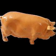 Vintage All Metal, Detailed Pig, Marked