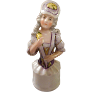 German Bisque Half Doll Handle