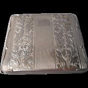 Silverplate Cigarette case 1930's, Hoka