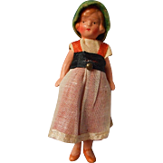 Adorable German All Bisque Doll House Doll