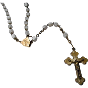Lovely Vintage Rosary Mother of Pearl marked Germany