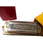 Miniature Hohner Harmonica in Case