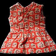 German Vintage Compo Doll Dress