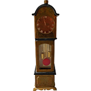 Wonderful Vintage Tin Grandfather Clock, Germany
