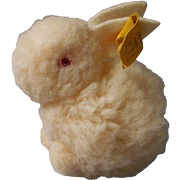 Steiff Vintage 50's All Wool Bunny, Tagged