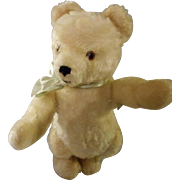 White Mohair Bear with Growler, Herman Germany