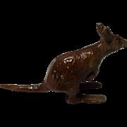 Metal Painted Miniature Kangaroo, France